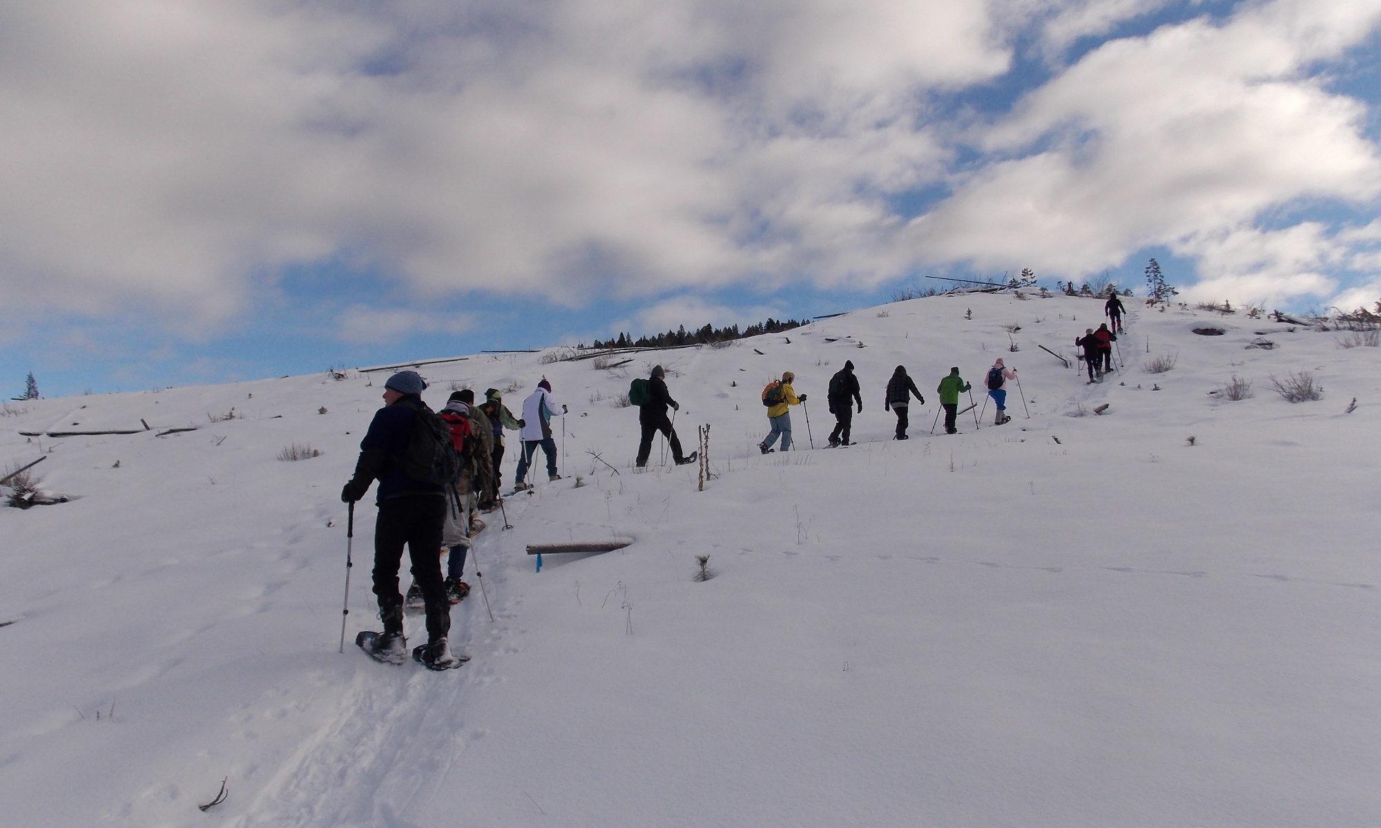 Header: Secret Lake Snowshoe